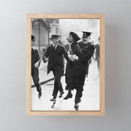Suffragette Emmeline Pankhurst Being Arrested (May 1914) Framed Mini Art Print