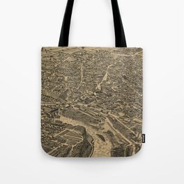 Vintage Pictorial Map of Glens Falls NY (1884) Tote Bag