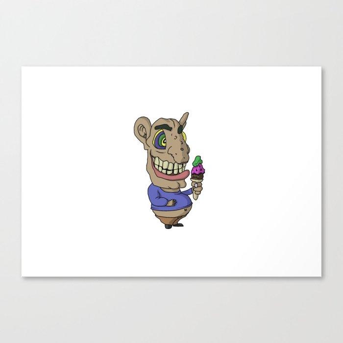 Ice-cream Goblin Canvas Print