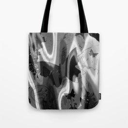 psychedelia in black & white Tote Bag