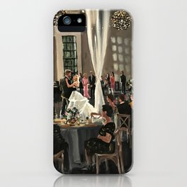 Erin & Taylor: Stave Room Wedding iPhone Case