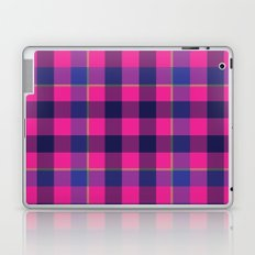 Pink and Navy Plaid Laptop & iPad Skin