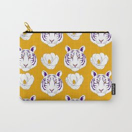 LSU yellow Carry-All Pouch