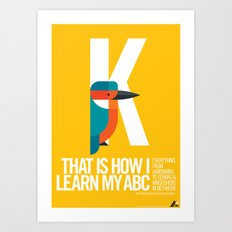 Animal Alphabet K Art Print