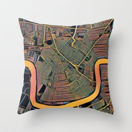 New Orleans Color Throw Pillow
