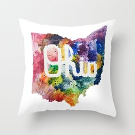 Script Ohio Throw Pillow