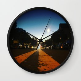 Double Yellow Wall Clock