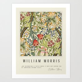 Modern poster-William Morris-Vegetable print 4. Art Print