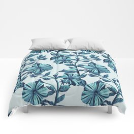 Morning Glories in Blue Comforters