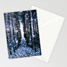 Magical Forest Dark Blue Elegance Stationery Cards