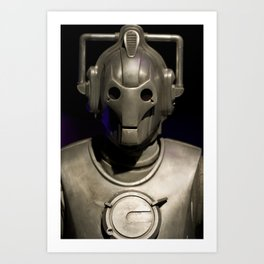 Cyberman From Doctor Who Art Print
