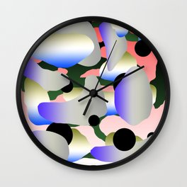 Camouflage and Circles II Wall Clock