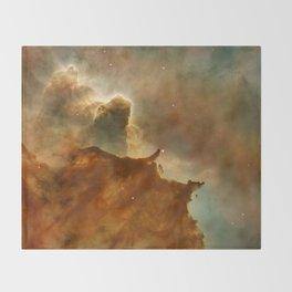 Carina Nebula Details -  Great Clouds Throw Blanket