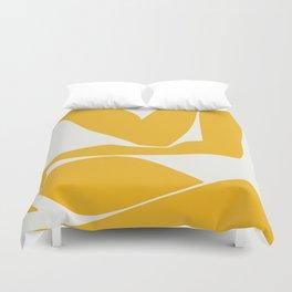 Yellow anatomy Duvet Cover