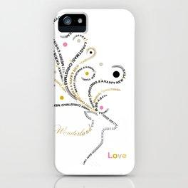 Typographic Reindeer Love - White iPhone Case