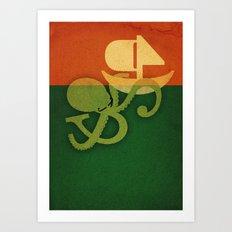 Tako attack Art Print