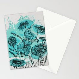 Oceanic Flowers Stationery Cards