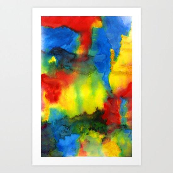 Primary Mix Art Print