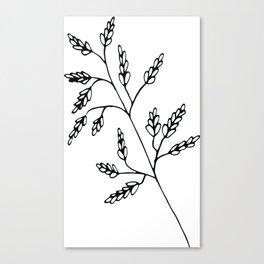 Branch White Canvas Print