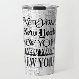 New York City black and white New York poster I love heart NYC Design black-white home wall decor Travel Mug