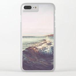 California, Los Angeles, beach, seaside, ocean, surf Clear iPhone Case