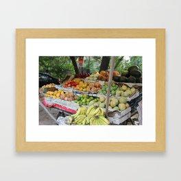 Roadside Fruit Stand Framed Art Print