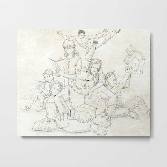Dungeons and Dragons Group Metal Print