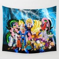 dbz Wall Tapestries featuring DBZ - Buu Saga by Mr. Stonebanks