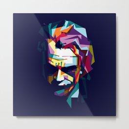 joker in colorful popart style Metal Print