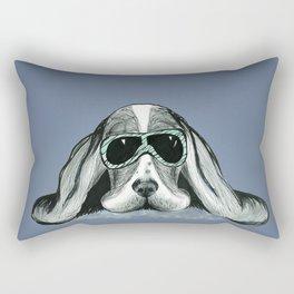 Cool Basset Hound Rectangular Pillow