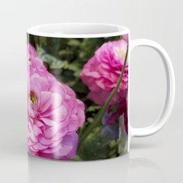 Spring Rosy Ranunculus And Primrose With Violet Violas Coffee Mug