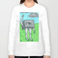 technology Long Sleeve T-shirts featuring Technology life by Diane McGregor Art
