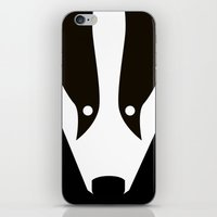 badger iPhone & iPod Skins featuring Badger by Christian Bailey