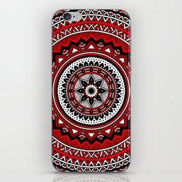 Red and Black Mandala iPhone Skin
