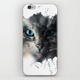 Cat Splash iPhone Skin