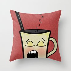 Sleepy Time Coffee  Throw Pillow