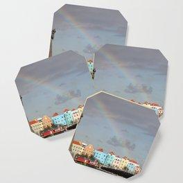 Rainbow over Willemstad Curaçao Coaster