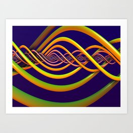 Helix Background Art Print