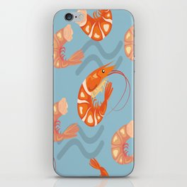 Prawn Seamless Pattern Vector iPhone Skin