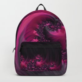 Twisting Dark Raspberry Ripple Backpack