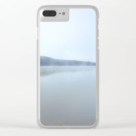 """Wild sunrise"". Foggy lake Clear iPhone Case"
