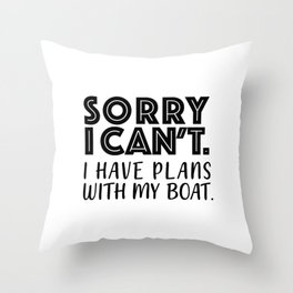 Boat Owner Throw Pillow