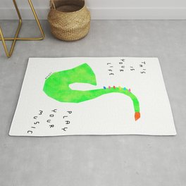 Your Life, Play Your Music - Jazz Band Brass Saxophone Illustration Marching Band Rug