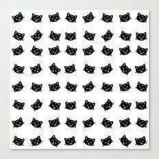 Black Cat Pattern Canvas Print