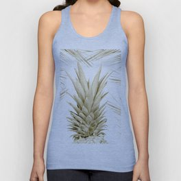 Gold Tropical Palm Pineapple Unisex Tank Top