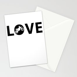 Motorbike Love Stationery Cards