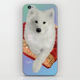 Samoyed, Taylor on a Royal Cushion iPhone Skin