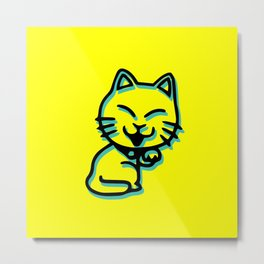 Cartoon Cat Metal Print