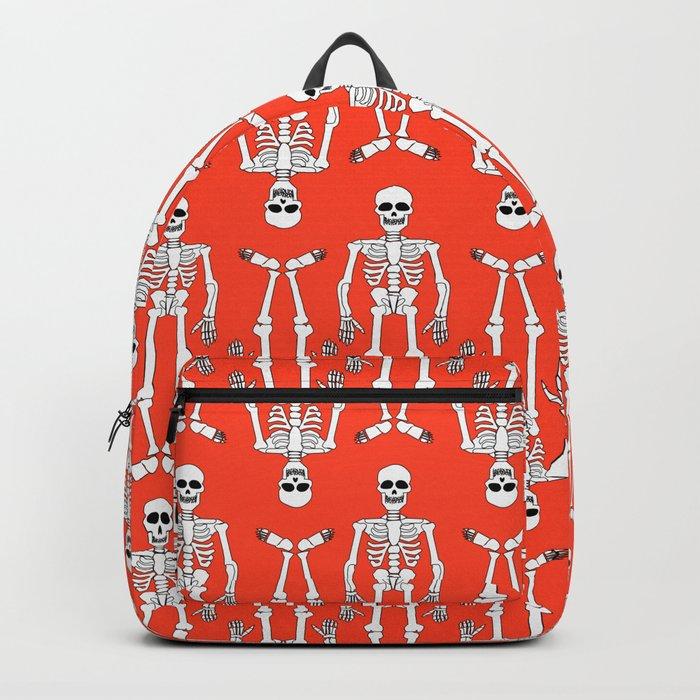 Skeleton pattern Backpack