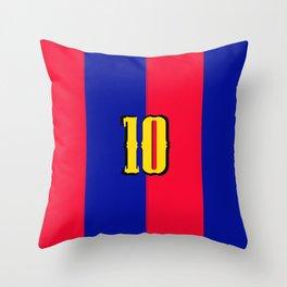 soccer team jersey number ten Throw Pillow